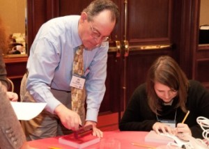 """Attendees at WebWise 2013 participate in a """"maker space"""" workshop."""
