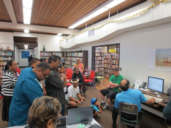 Participants visit to the Hawaii Library for the Blind and Visually Handicapped (LBPH).