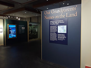 The exhibit gives visitors a detailed history of the region's rich culture and indigenous names.