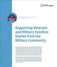 Cover of Supporting Veterans and Military Families: Stories from the Military Community